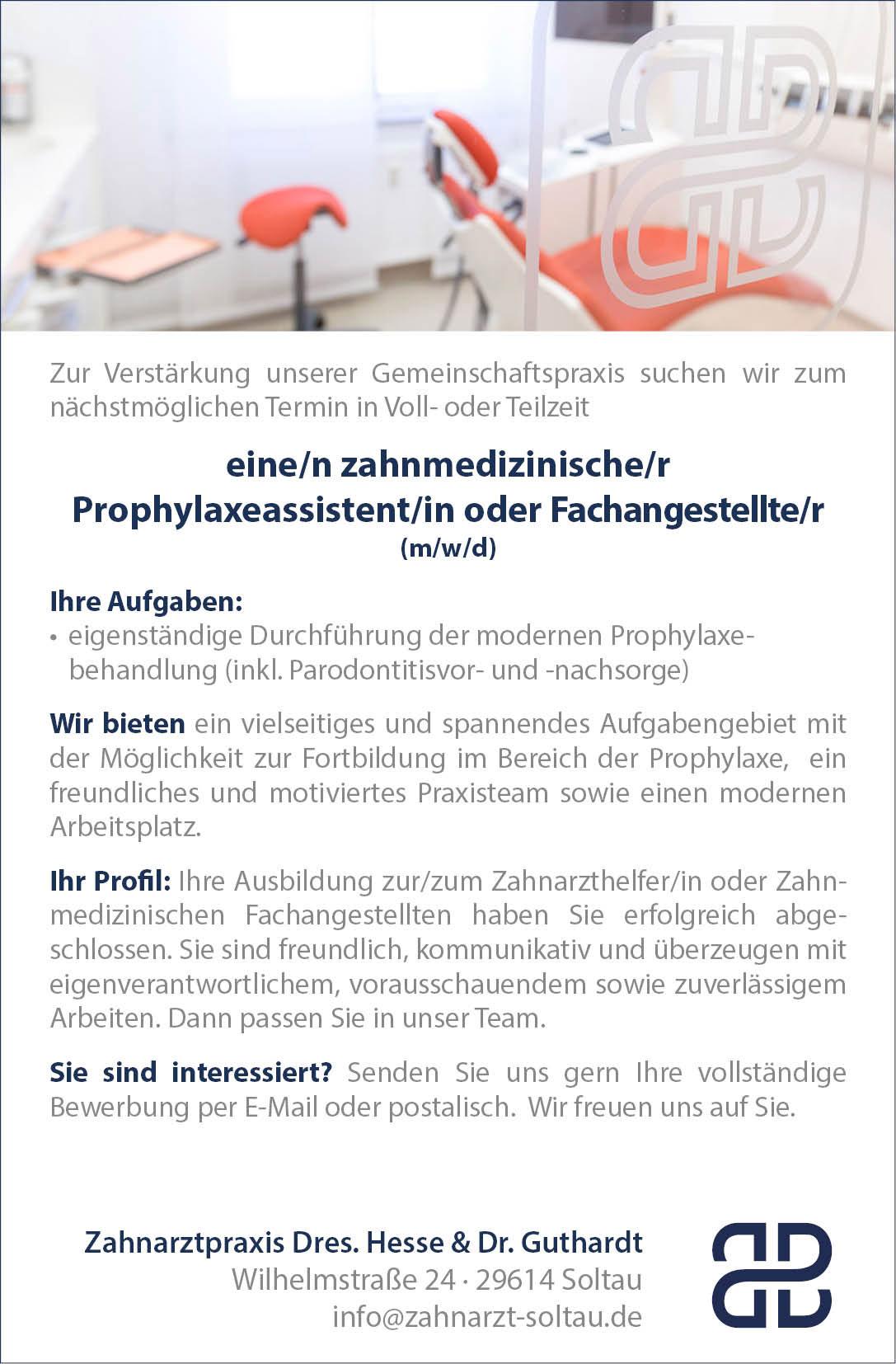 Vorschau Zahnmedizinsiche Prophylaxeassistentin